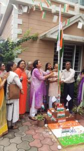 Flag hoisting at Apnalay